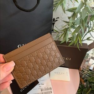 Gucci guccissima Leather Card Holder